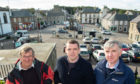 Cullen Community Council member Stan Slater, Moray MP Douglas Ross and Keith and Cullen councillor Donald Gatt have campaigned for a new ATM in Cullen. Picture by Jason Hedges.