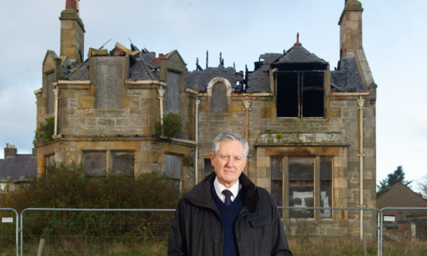 Heldon and Laich councillor John Cowe outside Brae Lossie. Picture by Jason Hedges.