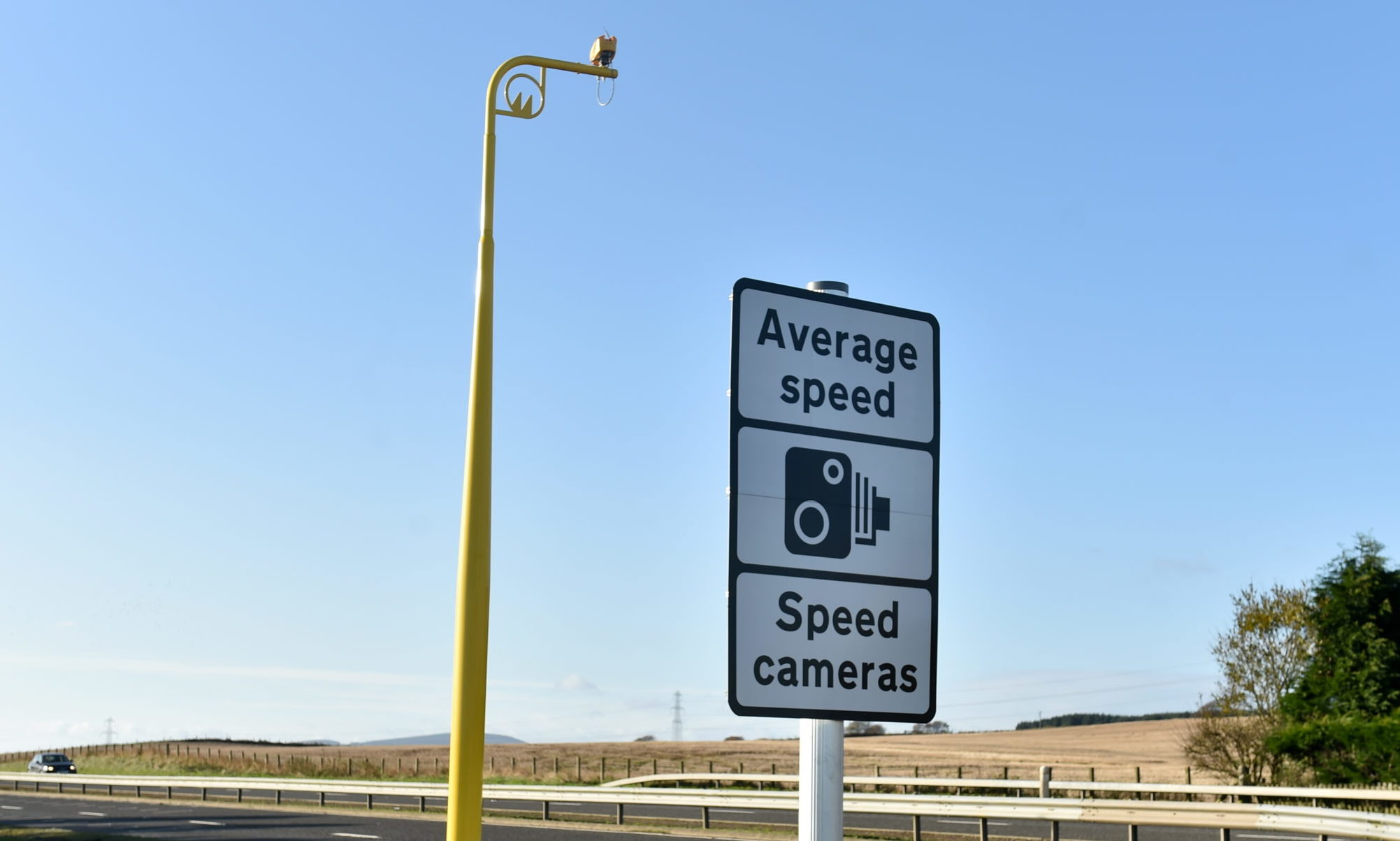 Average speed cameras on the A90 between Stonehaven and Dundee.  Picture by KENNY ELRICK