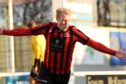 Inverurie Locos' Chris Angus. Picture by Kenny Elrick.
