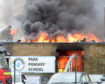 The fire at Park Primary School in Invergordon. Pictures by Sandy McCook.