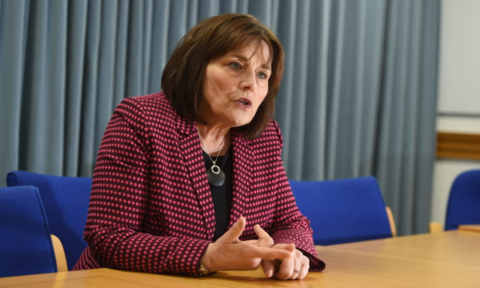 Health Secretary Jeane Freeman yesterday met with the whistleblowers of the NHS Highland saga. Picture by Sandy McCook