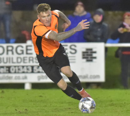Darryl McHardy smashed home the winner for Rothes.