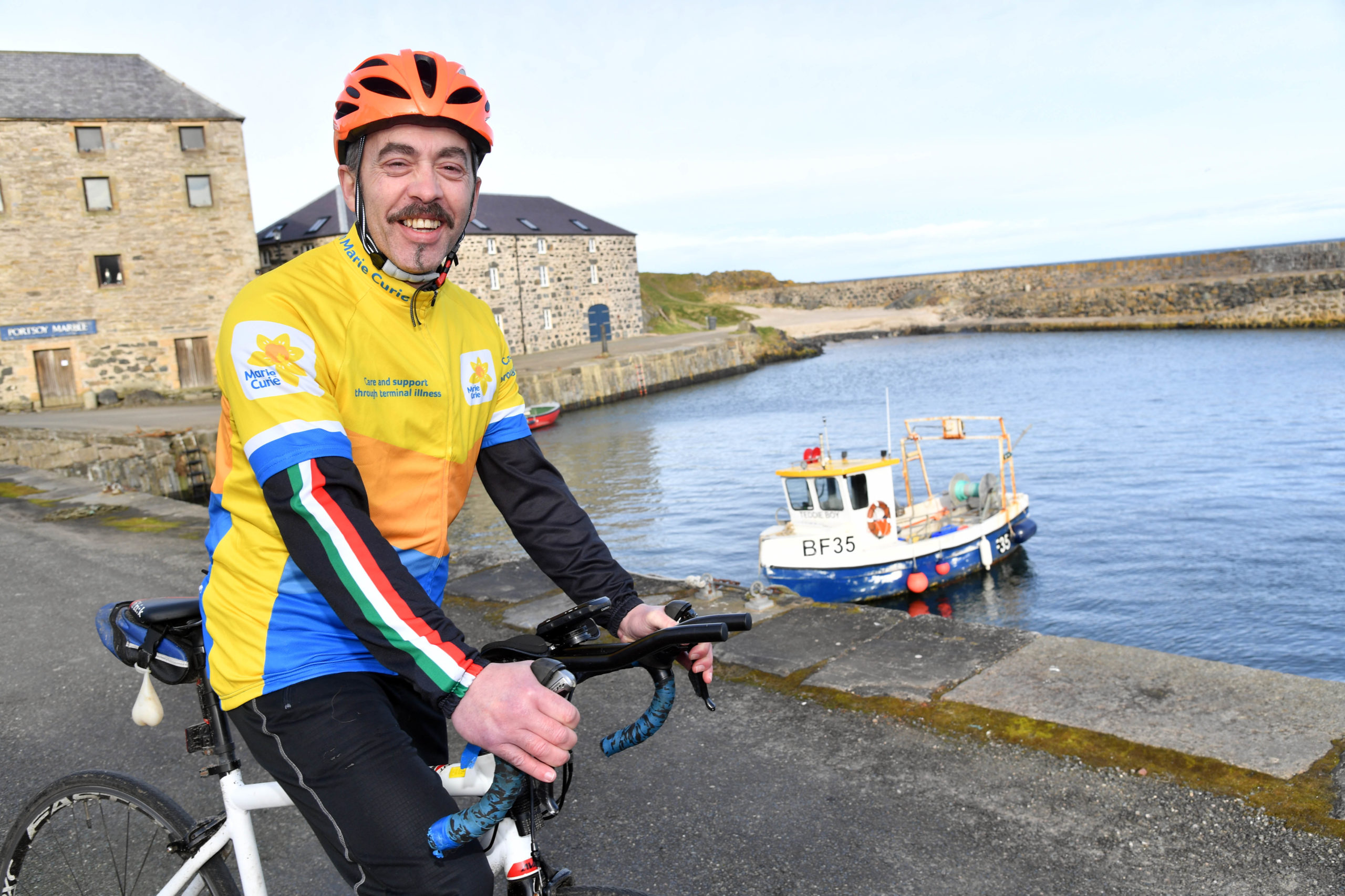 Chris Wishart-Turner is planning to cycle from John O'Groats to Edinburgh to raise funds for Marie Curie.