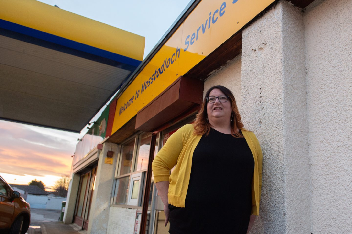 Council convener Shona Morrison at Mosstodloch garage where the new post office is to open. Pictures by Jason Hedges.