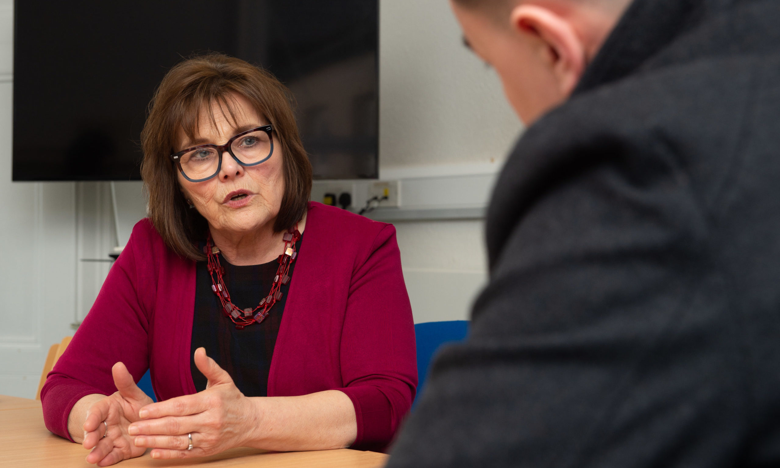 Health Secretary Jeane Freeman visits Dr Grays Hospital to discuss efforts to restore maternity services. Picture by Jason Hedges