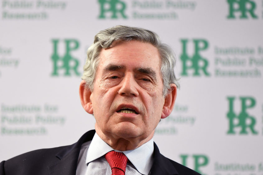 """Gordon Brown has claimed that Scotland is at risk of becoming """"one of the west's most divided countries""""."""
