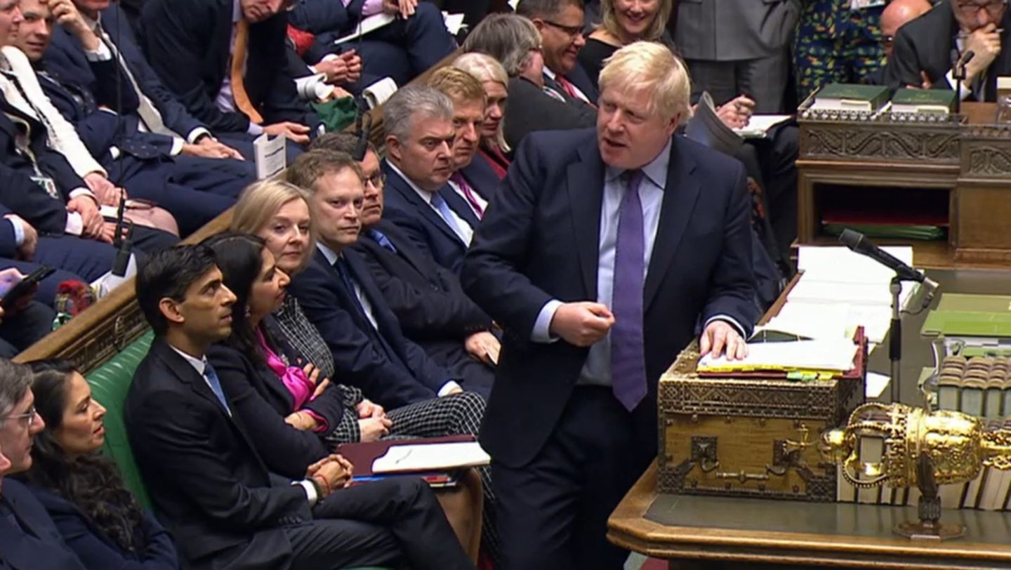 Prime Minister Boris Johnson speaks during Prime Minister's Questions in the House of Commons, London. PA Photo. Picture date: Wednesday February 26, 2020. See PA story POLITICS PMQs. Photo credit should read: House of Commons/PA Wire