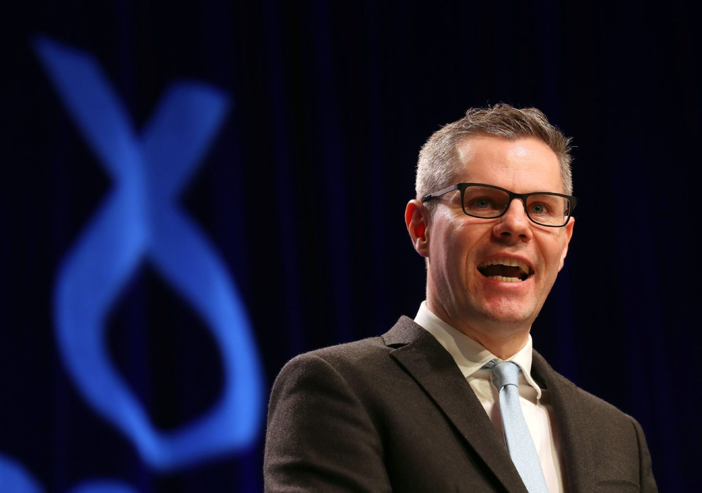 Finance Secretary Derek Mackay speaks during the SNP Spring Conference at the AECC, in Aberdeen.