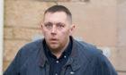 Robert Lawson leaving Elgin Sheriff Court.