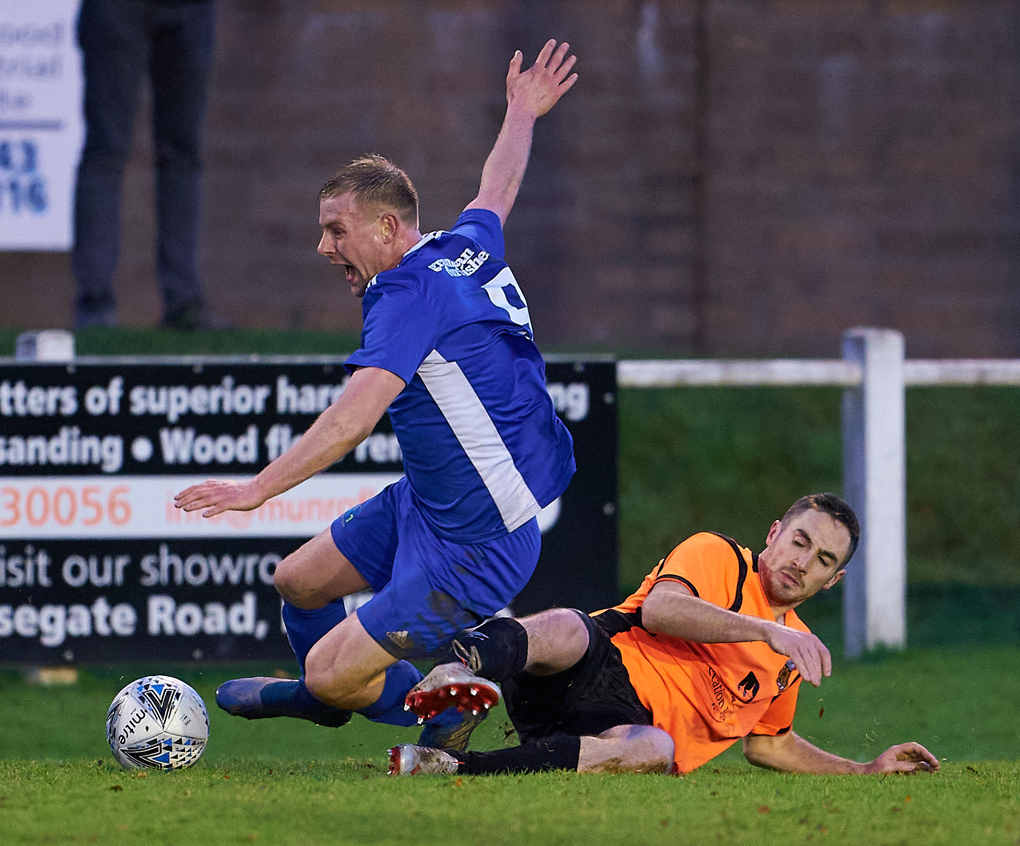 Ally Stark (right) in action against Lossiemouth.