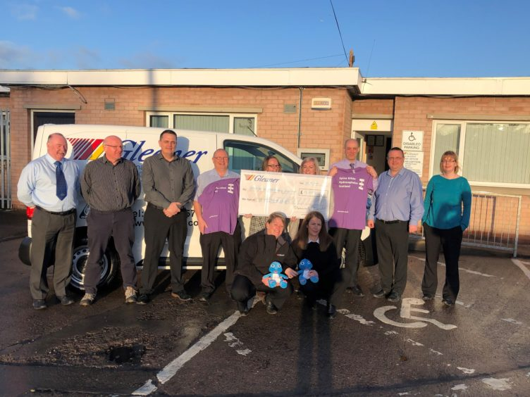 Moray business raises £13,000 to help those fighting lifelong SBH condition   Press and Journal