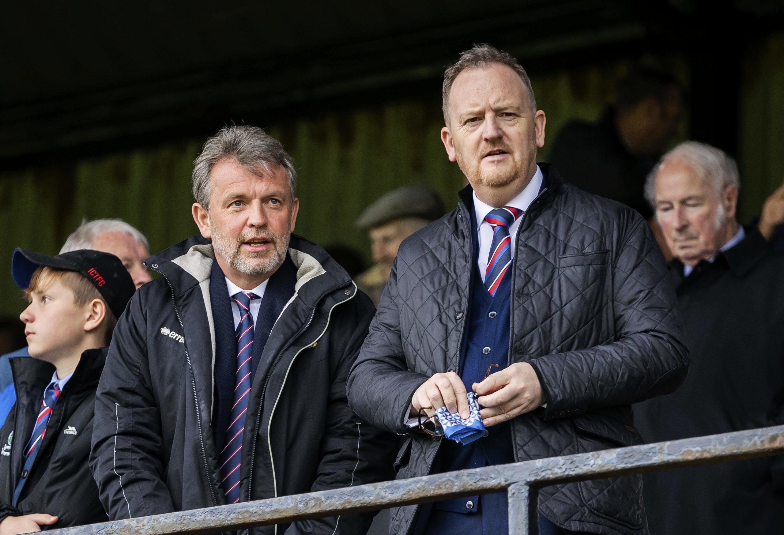 Caley Thistle chairman Ross Morrison, left, with Scot Gardiner.