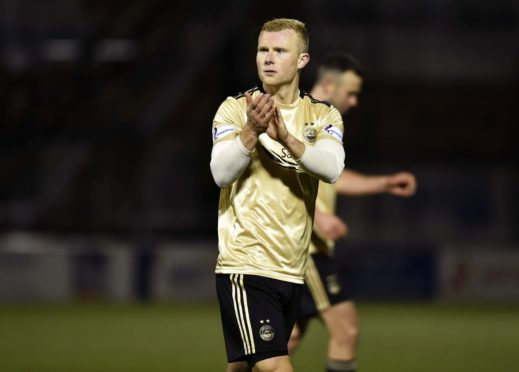 Aberdeen striker Curtis Main