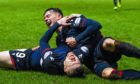 Ross County's Billy McKay celebrates with Josh Mullin, right, after equalising.