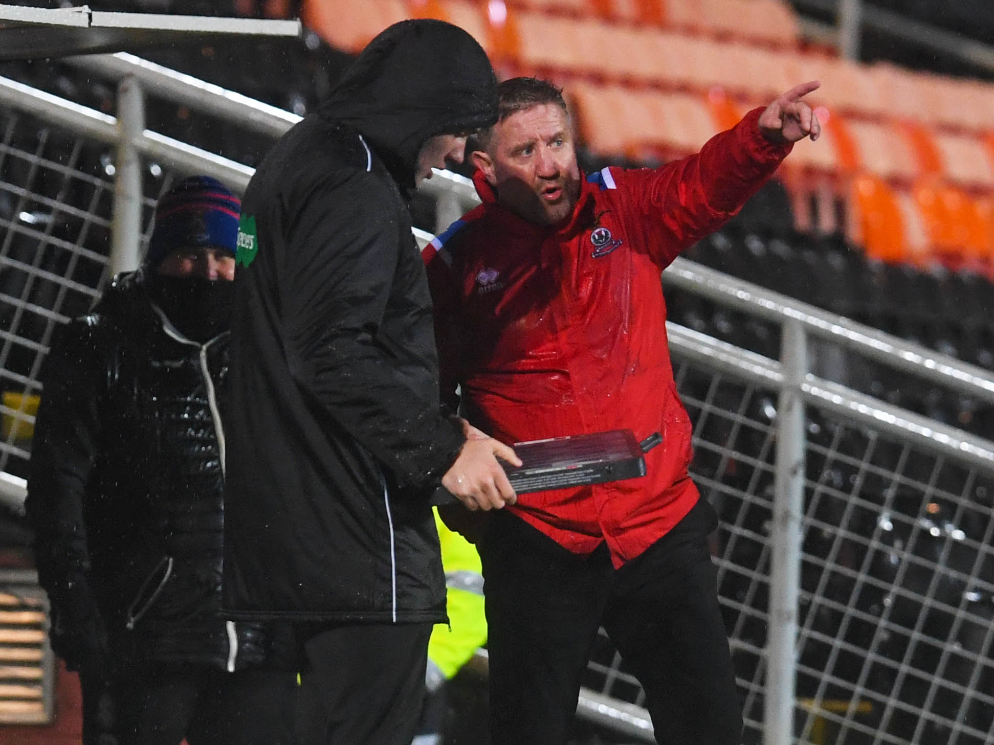 Caley Thistle manager John Robertson during last night's game with Dundee United.