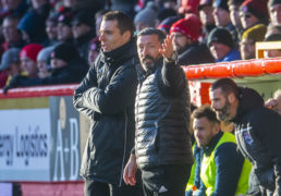 Derek McInnes during the Ladbrokes Premiership match between Aberdeen and Ross County at Pittodrie.
