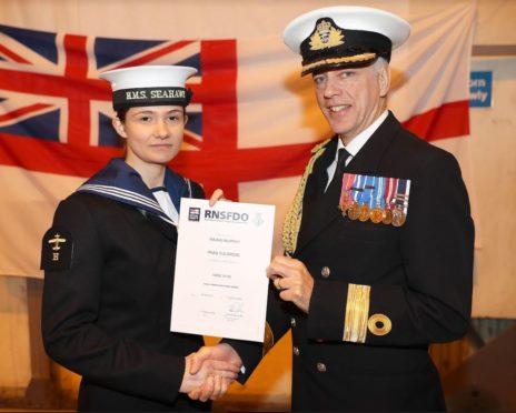 Royal Navy Aircraft Handlers' Branch Passing In Parade Februaru 2020 at Royal Naval Air Station Culdrose