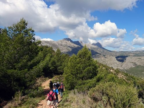 Thinking about going on a walking holiday? (high up in the Costa Blanca Mountains).