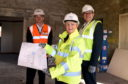 John McHardy, business development director, Robertson's: councillor, Jenny Laing councillor, Douglas Lumsden.  Picture by Jim Irvine