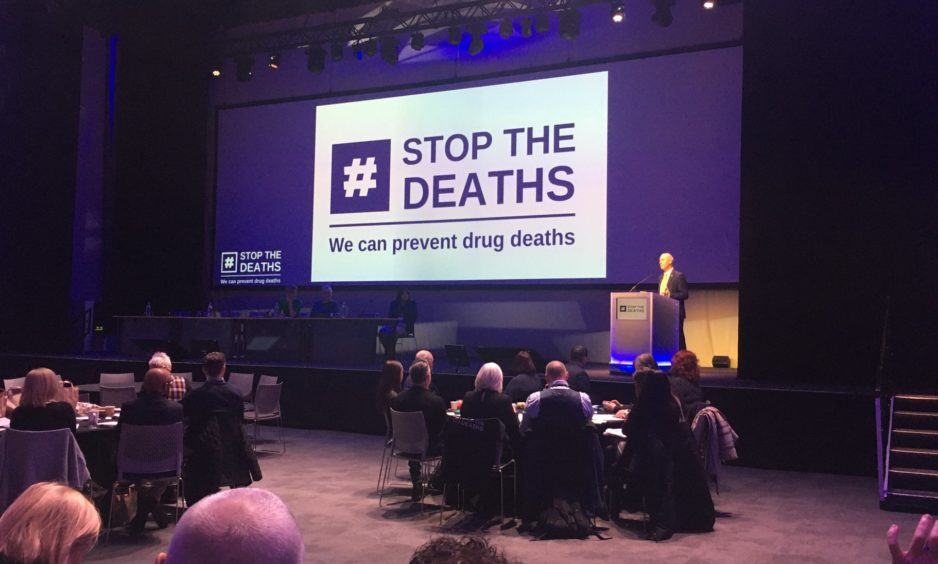 Around 350 delegates attended the Scottish Government-arranged drugs death conference on Wednesday.
