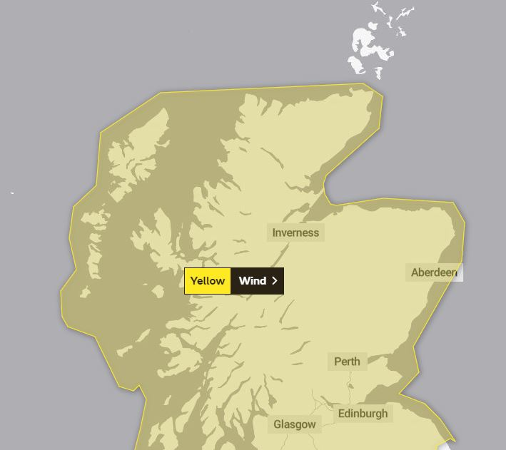 Yellow weather warning ahead of Storm Dennis' arrival this weekend.