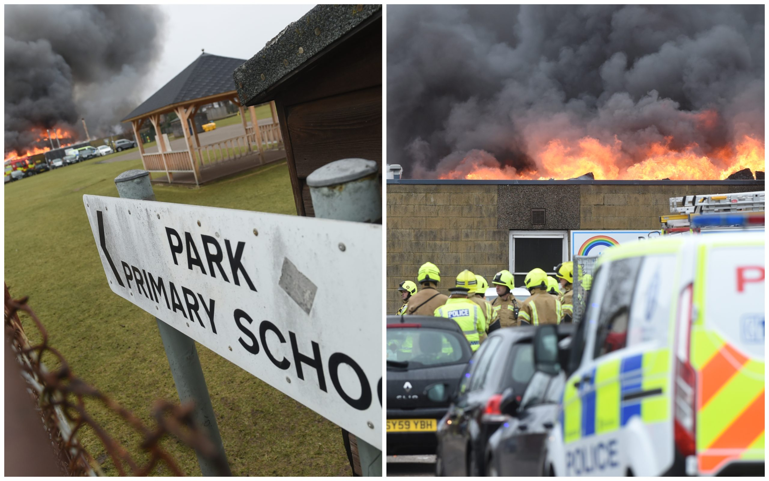 The fire broke out around 10.10am on February 24. Pictures by Sandy McCook