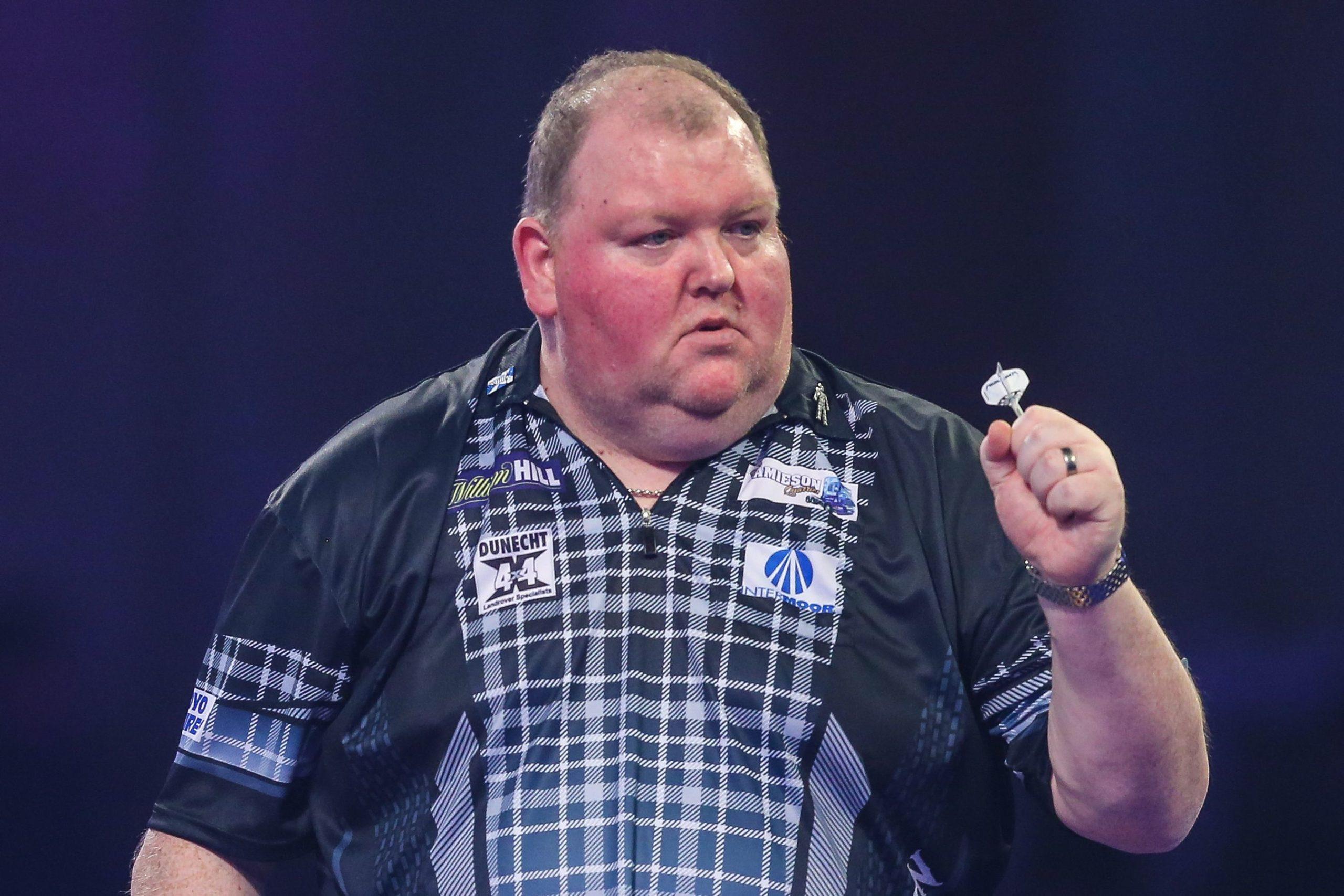 Huntly darts favourite John Henderson during the World Championship