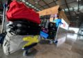 Mandatory Credit: Photo by FILIP SINGER/EPA-EFE/Shutterstock (10540429u) A trolley with luggage at the check-in counter on the occasion of trial operation at terminal 1 of the Berlin Brandenburg Airport (BER) in Schoenefeld, Germany, 27 January 2020. Some 20,000 volunteer testers are sought for trial operation at Berlin Brandenburg Airport.The airport is expected to open in October 2020. Berlin Brandenburg Airport trial operation, Schoenefeld, Germany - 27 Jan 2020