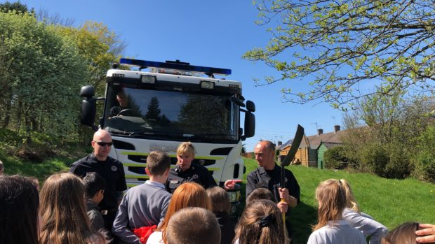 Firefighters show youngsters impact of deliberately starting fires in Aberdeen | Press and Journal