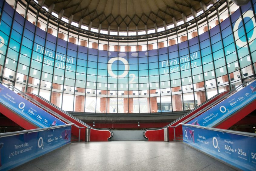Empty Atocha Station during the Spanish lockdown.
