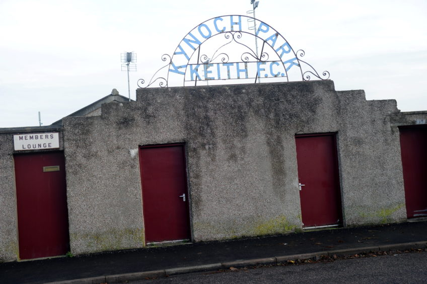 Kynoch Park, home of Keith FC.