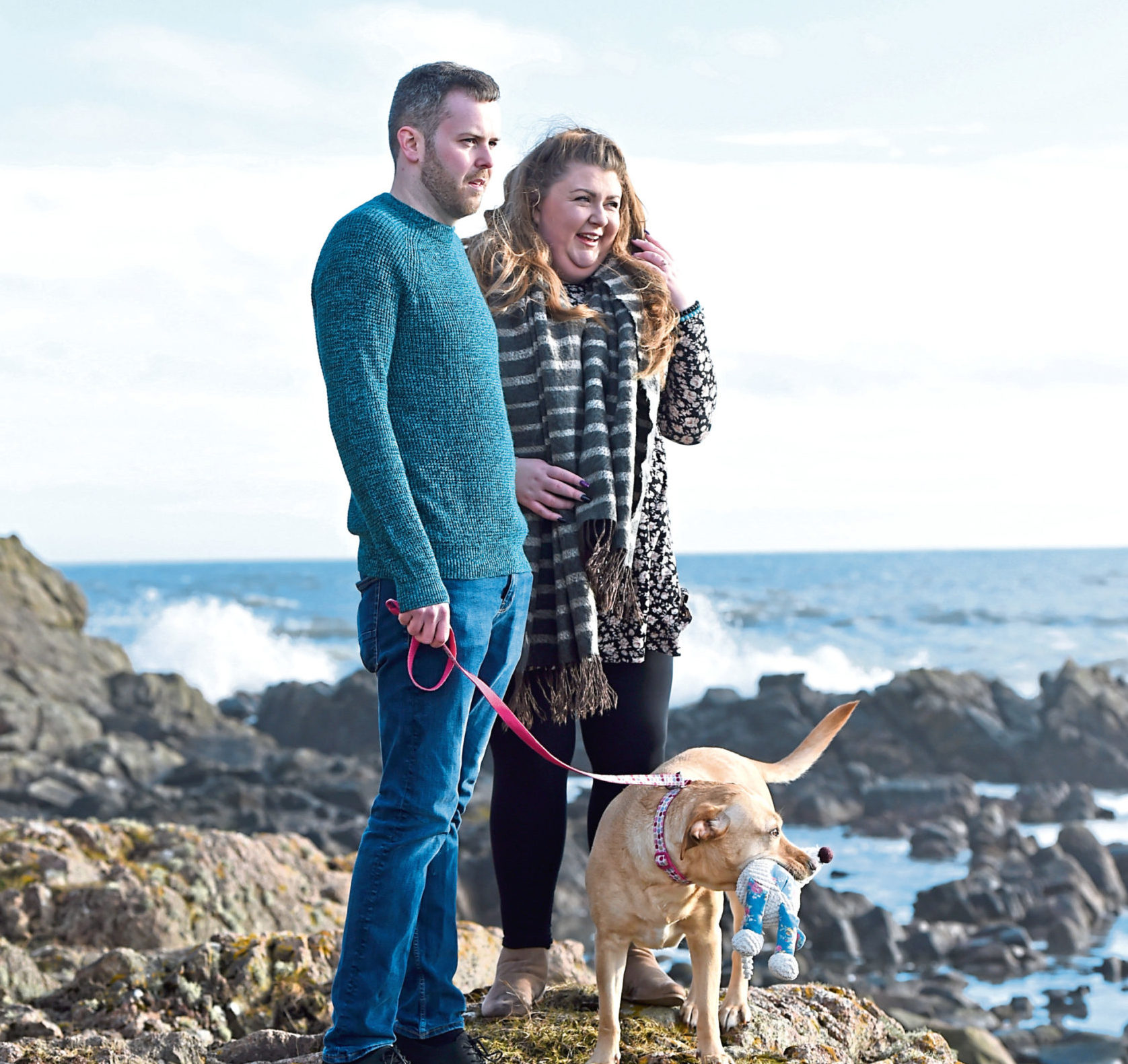 Victoria MacDonald and Scott Ross who run a very successful  blog and Instagram page walking their dog Callie Picture by Paul Glendell