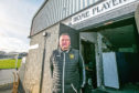 Clachnacuddin chairman Alex Chisholm at the side's home ground where fire damaged the changing rooms last year.
