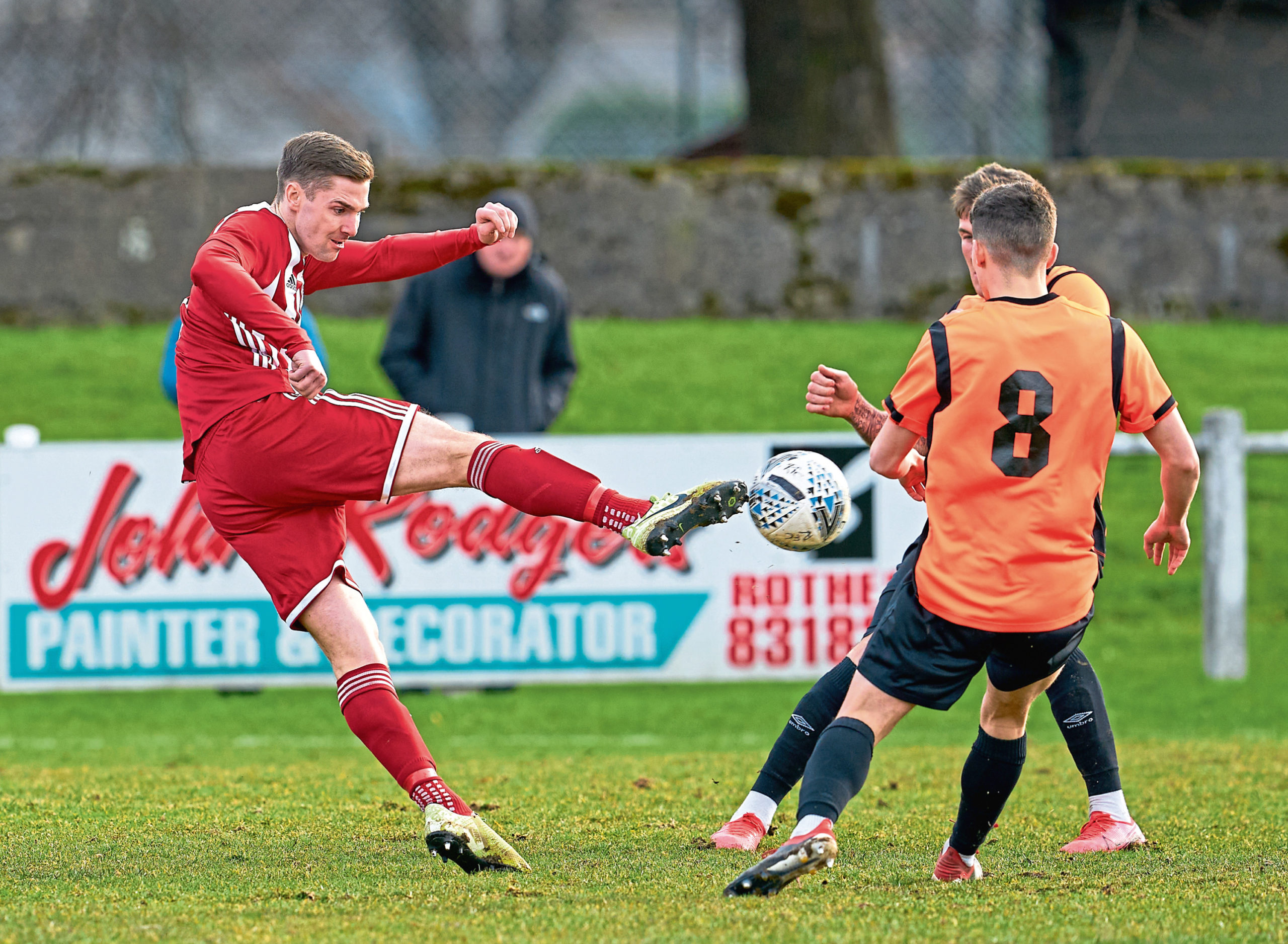 Formartine's Graham Rodger competes for possession.