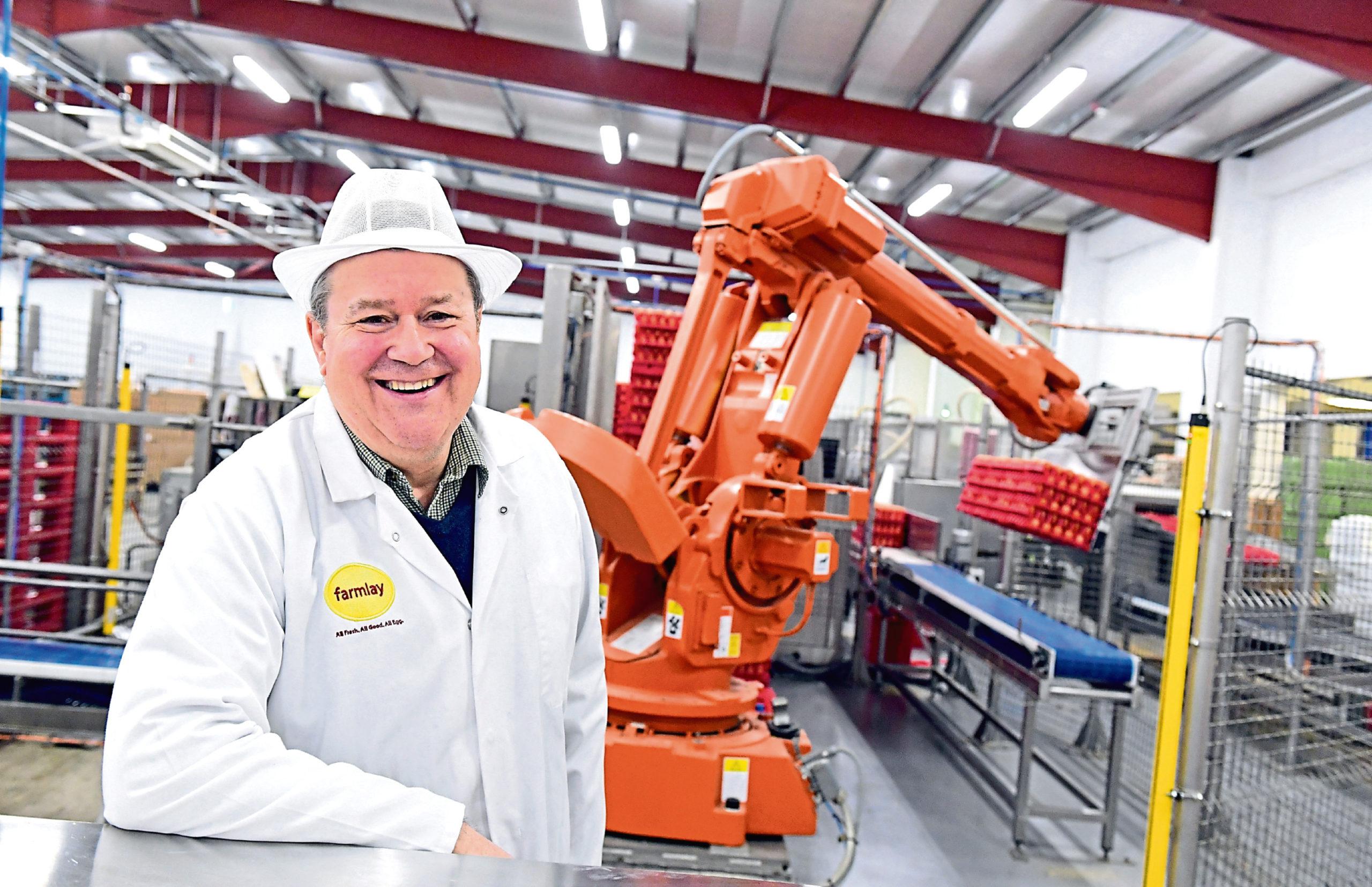Robert Chapman of Farmlay Eggs.