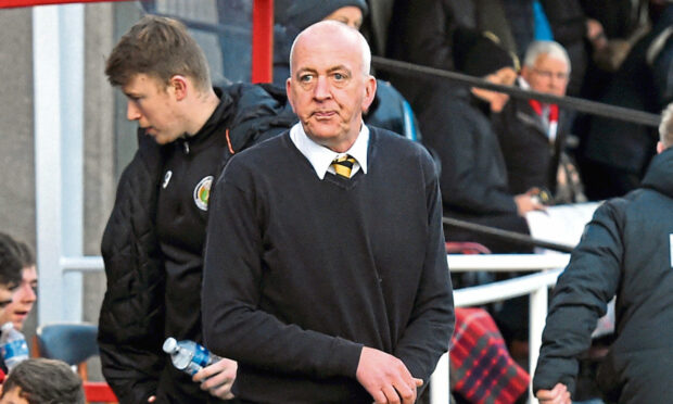 Calum Maclean during his last spell in charge of Fort William in 2020.