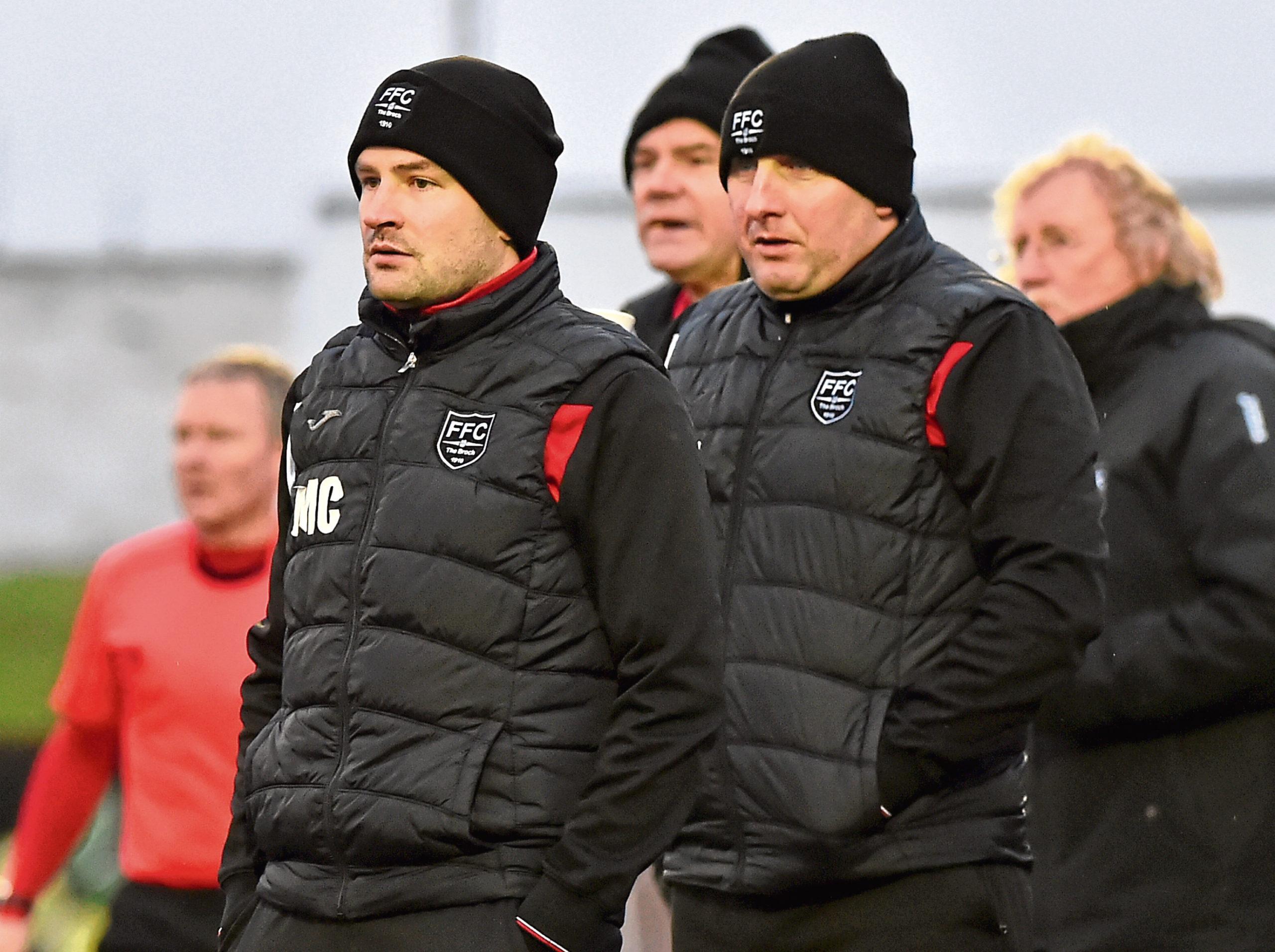 Fraserburgh boss Mark Cowie, left.