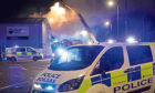 Building fire on Thornbush Road, Inverness.