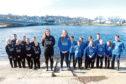 Presidents Lizzie Buchan (Robert Gordon University) (centre L) Katie Sugden (University of Aberdeen) (centre R) with their crews.      Picture by Kami Thomson