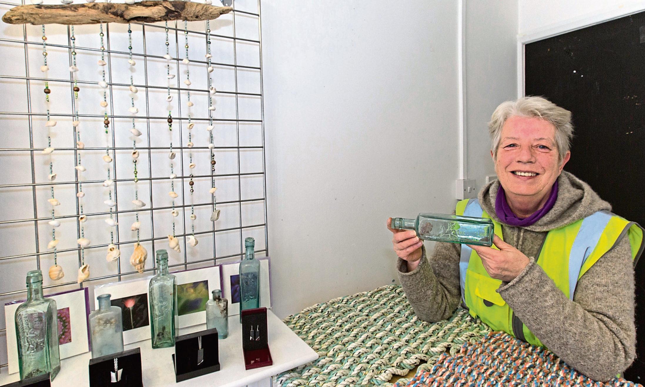 Dorcas Sinclair in the pop up shop on Princes Street, Thurso.
