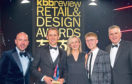 Pictured left to right are: Comedian Tom Allen, Darren Walker, Director, Laings, Claire McKay, Director, Laings, Mark Strachan, Principal Development Designer, Laings, and Darren Paxford, National Sales Manager, VitrA