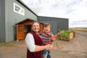 Fiona Smith with her son Mathew outside the Spud Hut.