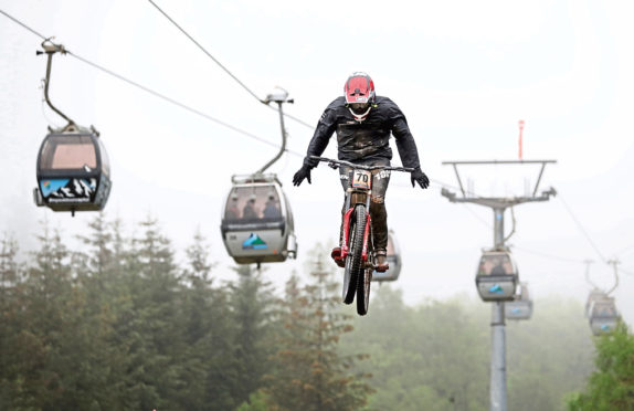 Great Britain's Kade Edwards during the UCI Mountain Bike World Cup at Fort William last year.