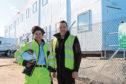 L-R: ACCIONA civil engineer, Maria Sasso, with Greenwell director, Scott Brown.