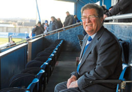 Pictured is Peterhead FC chairman Rodger Morrison.  Picture by DARRELL BENNS      Pictured 13/02/2016