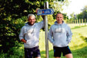 North-east army veterans Gavin Taylor (left) and Kevin Watson, who are involved in organising the new event, pictured on the former railway line near Auchnagatt. Picture by Colin Rennie