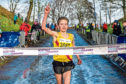 Lucas Cairns at the Scottish cross-county under-17 championships.
