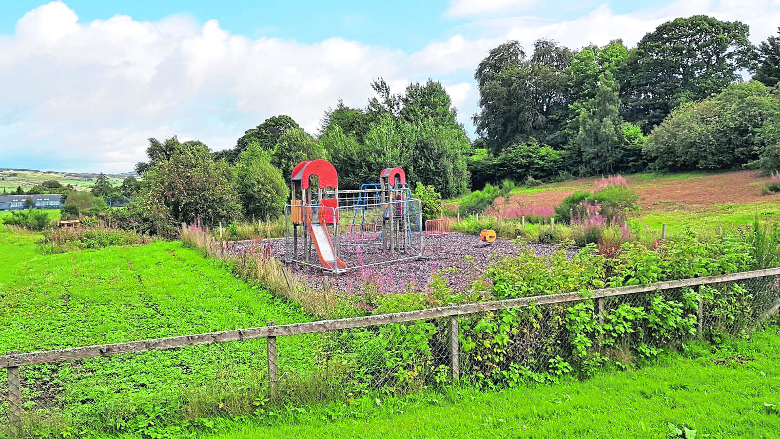Plans for a children's play park in Strathpeffer.