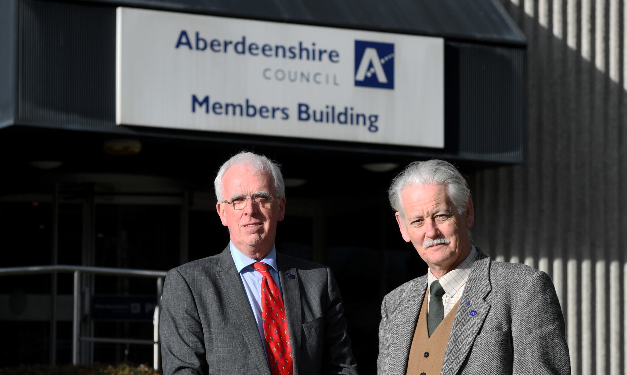 Aberdeenshire Council Leader Jim Gifford (left) and Deputy Leader Peter Argyll
